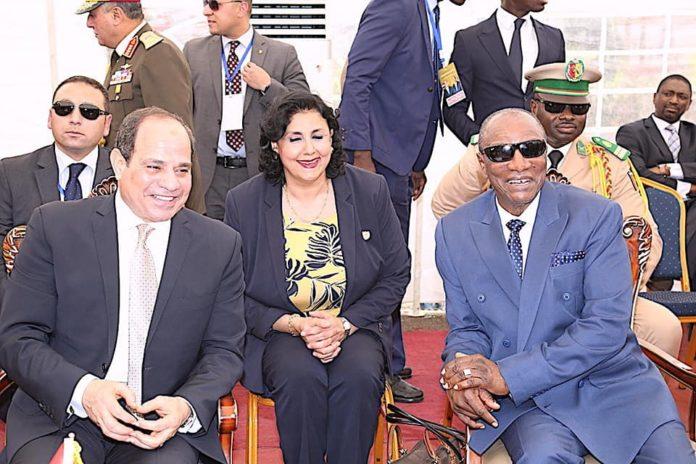 Visite d'Etat du président égyptien Abdel Fattah al-Sissi à Conakry avec son homologue Guinéen, le président Alpha Condé