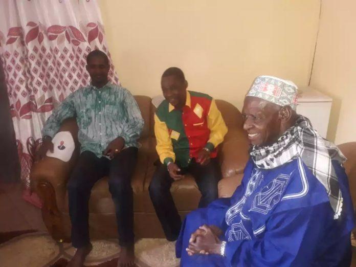 Le Khalife du Foutah Elhadj Bano, Mouctar Diallo et Sanoussy Bantama Sow à Pita