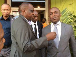 Antonio Souaré et Amadou Diaby de la fédération guinéenne de football