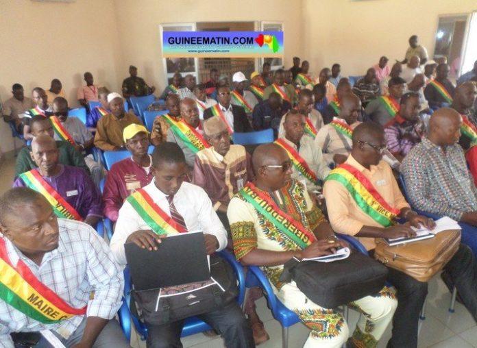 Les 58 maires de la région de kankan