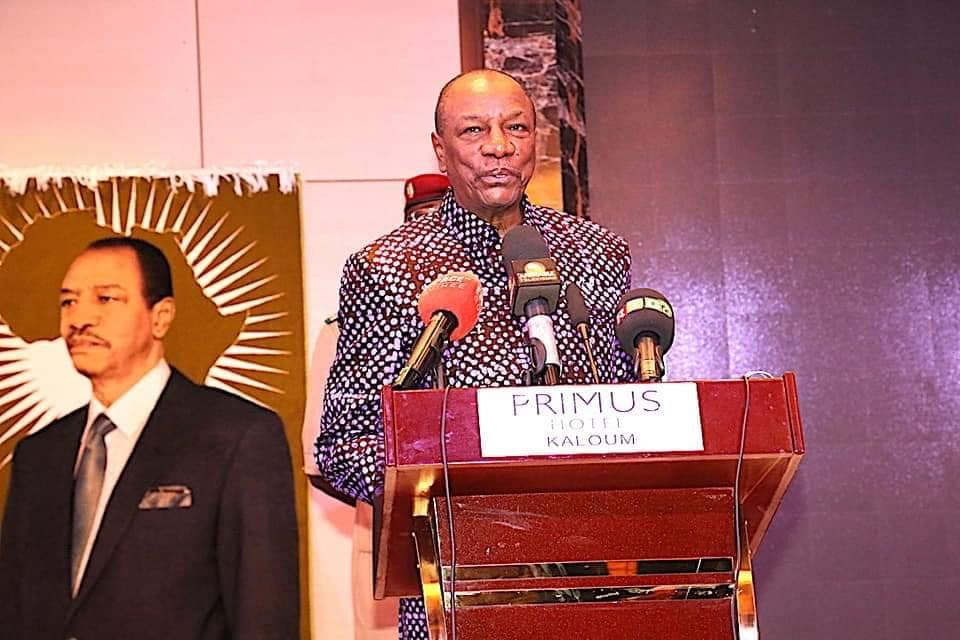 Le président de la République de Guinée, le professeur Alpha Condé