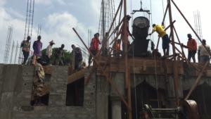 Construction d'une mosquée dans le quartier de Nasroulaye