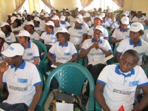 Les volontaires de l'ANVJ en formation à Mamou