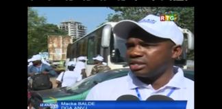 Macka Balde DGA de l'agence nationale de volontariat jeunesse ANVJ JT RTG
