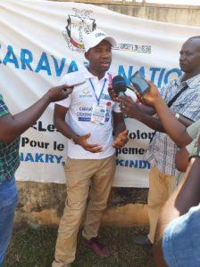 Macka Balde DGA de l'ANVJ à Boké