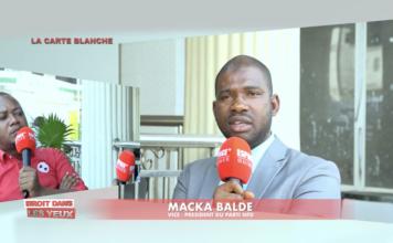 Macka BALDE VP des NFD face à Mohamed Ali dans l'émission droit dans les yeux